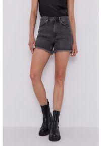 AllSaints - Szorty jeansowe. Okazja: na co dzień. Kolor: szary. Materiał: jeans. Styl: casual