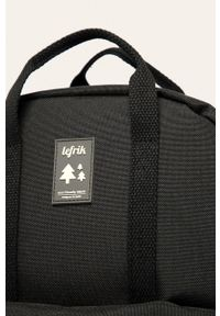 Czarny plecak Lefrik z aplikacjami