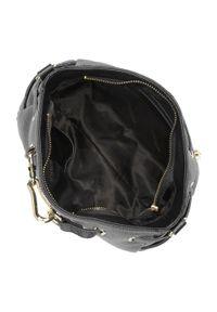 Czarna torebka worek Wittchen w paski, na ramię