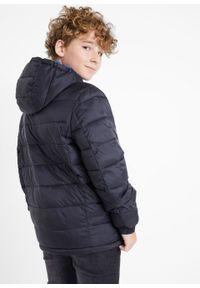Czarna kurtka bonprix na zimę, z kapturem