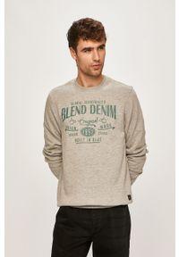 Szara bluza nierozpinana Blend casualowa, z okrągłym kołnierzem
