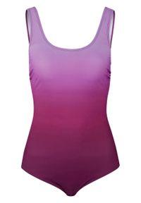 Kostium kąpielowy shape Level 3 bonprix lila z nadrukiem. Kolor: fioletowy. Wzór: nadruk
