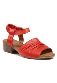 Czerwone sandały Piazza