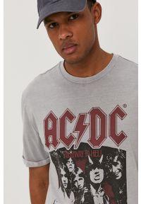 Szary t-shirt Only & Sons casualowy, z nadrukiem, na co dzień