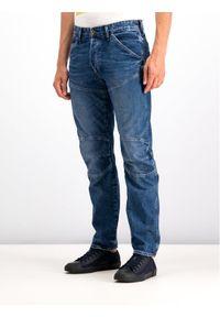 G-Star RAW - G-Star Raw Jeansy D01517-9657-A599 Granatowy Tapered Fit. Kolor: niebieski. Materiał: jeans