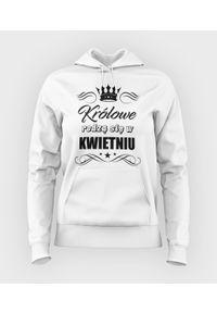 MegaKoszulki - Bluza damska z kapturem Królowe 2 + Twój miesiąc. Typ kołnierza: kaptur