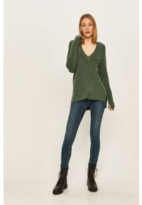 Turkusowy sweter Vila casualowy, na co dzień, długi