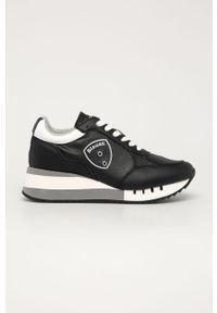 Czarne buty sportowe Blauer z cholewką, na sznurówki, z okrągłym noskiem