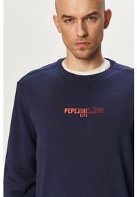 Niebieska bluza nierozpinana Pepe Jeans casualowa, na co dzień, gładkie