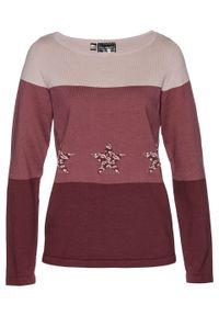 Brązowy sweter bonprix