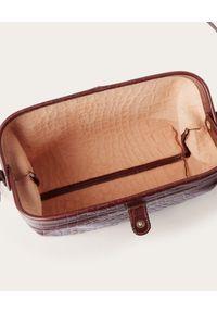 BALAGAN - Brązowa torebka ROFE M CROCE. Kolor: brązowy. Styl: vintage, klasyczny. Rodzaj torebki: na ramię