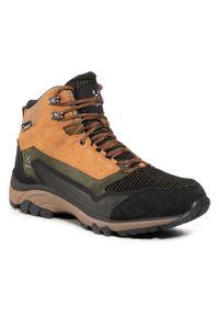 Zielone buty trekkingowe z cholewką, trekkingowe