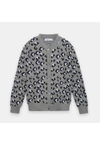 Szary sweter Sinsay z motywem zwierzęcym #1