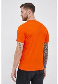 Lamborghini - T-shirt. Okazja: na co dzień. Kolor: pomarańczowy. Materiał: dzianina. Wzór: gładki. Styl: casual