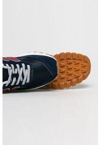 Niebieskie sneakersy New Balance na sznurówki, na fitness i siłownię
