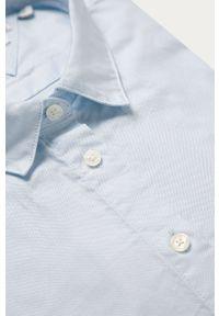 Niebieska koszula TOMMY HILFIGER klasyczna, długa, z klasycznym kołnierzykiem, na co dzień