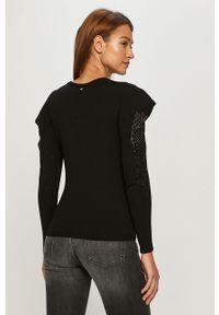 Czarny sweter Liu Jo na co dzień, długi