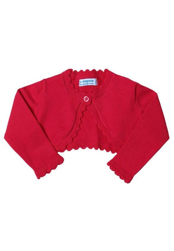 Mayoral Sweter 306 Różowy Regular Fit. Kolor: różowy