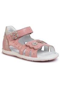 Różowe sandały Lasocki Kids na co dzień, z aplikacjami, casualowe
