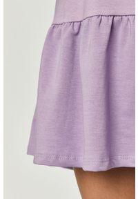 Fioletowa sukienka Haily's z okrągłym kołnierzem, mini