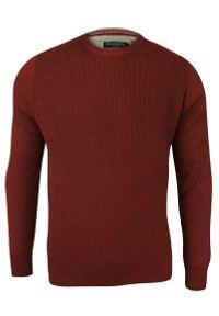 Czerwony sweter Brave Soul klasyczny, z okrągłym kołnierzem