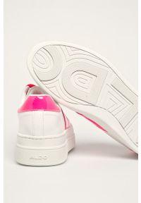 Białe buty sportowe Aldo z okrągłym noskiem, z cholewką