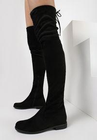 Born2be - Czarne Kozaki Nautida. Wysokość cholewki: za kolano. Nosek buta: okrągły. Zapięcie: zamek. Kolor: czarny. Materiał: materiał, wełna. Szerokość cholewki: normalna. Obcas: na obcasie. Wysokość obcasa: średni