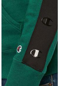 Champion - Bluza. Okazja: na co dzień. Kolor: zielony. Wzór: aplikacja. Styl: casual