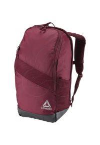 Czerwony plecak Adidas casualowy, w kolorowe wzory