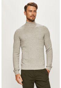 Szary sweter PRODUKT by Jack & Jones casualowy, z długim rękawem, długi