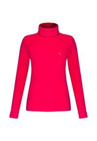 Czerwony sweter Chervo na co dzień, z golfem, z aplikacjami