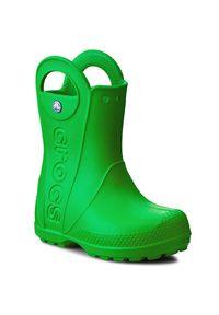 Zielone kalosze Crocs z cholewką