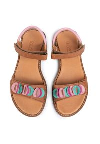 Brązowe sandały Froddo z aplikacjami, na lato