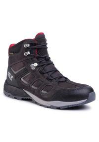 Czarne buty trekkingowe Jack Wolfskin trekkingowe, z cholewką