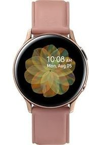SAMSUNG - Smartwatch Samsung Galaxy Watch Active 2 Stainless 40mm Srebrny (SM-R835FSDADBT). Rodzaj zegarka: smartwatch. Kolor: srebrny