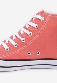 Born2be - Pomarańczowe Trampki Melolle. Okazja: na co dzień. Wysokość cholewki: za kostkę. Nosek buta: okrągły. Zapięcie: pasek. Kolor: pomarańczowy. Materiał: materiał, guma. Szerokość cholewki: normalna. Styl: klasyczny, casual #4