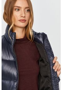 Niebieska kurtka Calvin Klein casualowa, bez kaptura