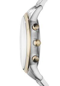 Emporio Armani - Zegarek AR11076. Kolor: srebrny. Materiał: materiał