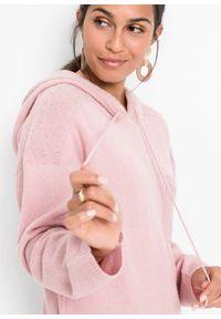 Fioletowy sweter bonprix melanż, z kapturem