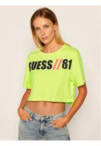 Guess T-Shirt Clarissa W0YI91 K8FQ0 Żółty Regular Fit. Kolor: żółty
