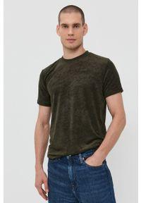 Brave Soul - T-shirt. Okazja: na co dzień. Kolor: zielony. Materiał: dzianina. Wzór: gładki. Styl: casual