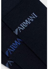 Emporio Armani Underwear - Emporio Armani - Skarpetki (3-pack). Kolor: niebieski