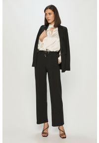 Czarne spodnie materiałowe Scotch & Soda gładkie, z podwyższonym stanem