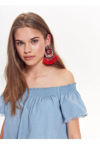 Niebieska bluzka TROLL na lato, elegancka