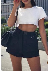 Czarne spodnie IVET eleganckie, na lato, w kolorowe wzory