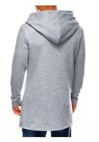Szara bluza Ombre Clothing z kapturem, klasyczna #5