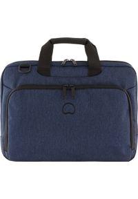 Niebieska torba na laptopa Delsey