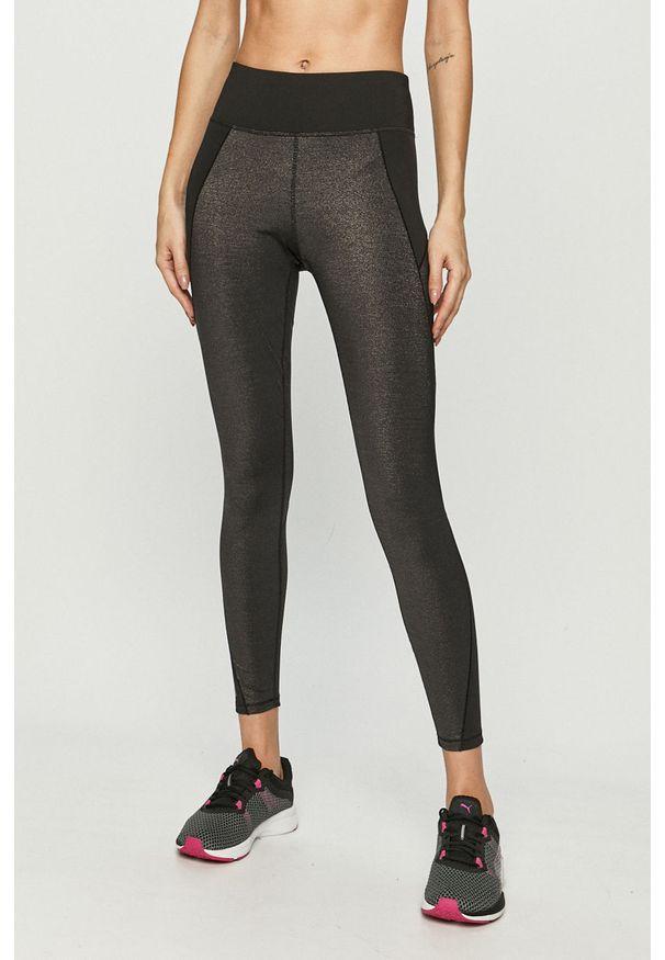 Czarne legginsy Puma melanż