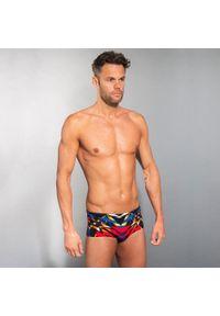NABAIJI - Slipki-opaska pływackie 900 KAL męskie. Kolor: wielokolorowy, niebieski, czerwony, czarny. Materiał: poliamid, materiał, poliester