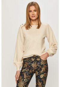 Kremowy sweter Silvian Heach długi, na co dzień, z długim rękawem, casualowy
